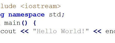 "c++ code to print ""hello world"""